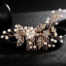 Miallo, свадебные Кристальные жемчужины, гребни невесты, заколки для волос, аксессуары, ювелирные изделия ручной работы, женские Украшения для ...(China)