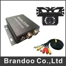 Discount price 1 channel car dvr kit, including 2pcs dvr and 2pcs car cameras, 2pcs 5 meters video cable. for taxi, bus(China (Mainland))