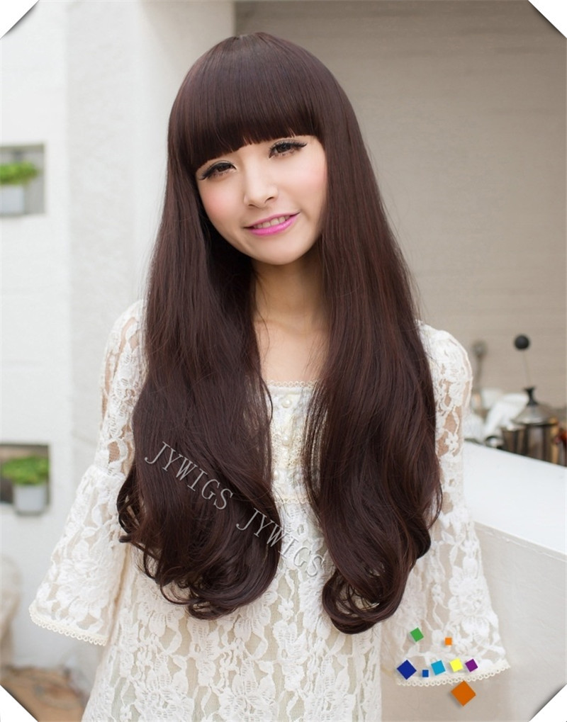 Synthetic Heat Reisistant Fiber  Women Lady Long Wavy Hair Full Wigs Cosplay Party 4Colors<br><br>Aliexpress