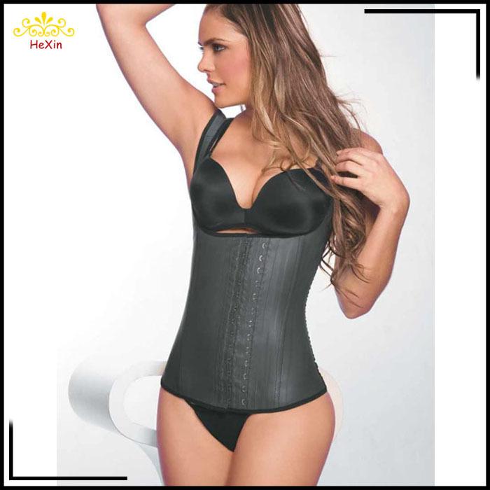 New Latex Waist Cincher Vest Chest Binder Body Shaper For Women Corset Slimming Waist Trainer Plus Size Waist Training Corsets(China (Mainland))