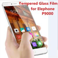 50pcs/lot Original Elephone P9000 Tempered Glass screen protector for elephone p9000 Steel Film 9H 0.26mm Explosionproof Premium