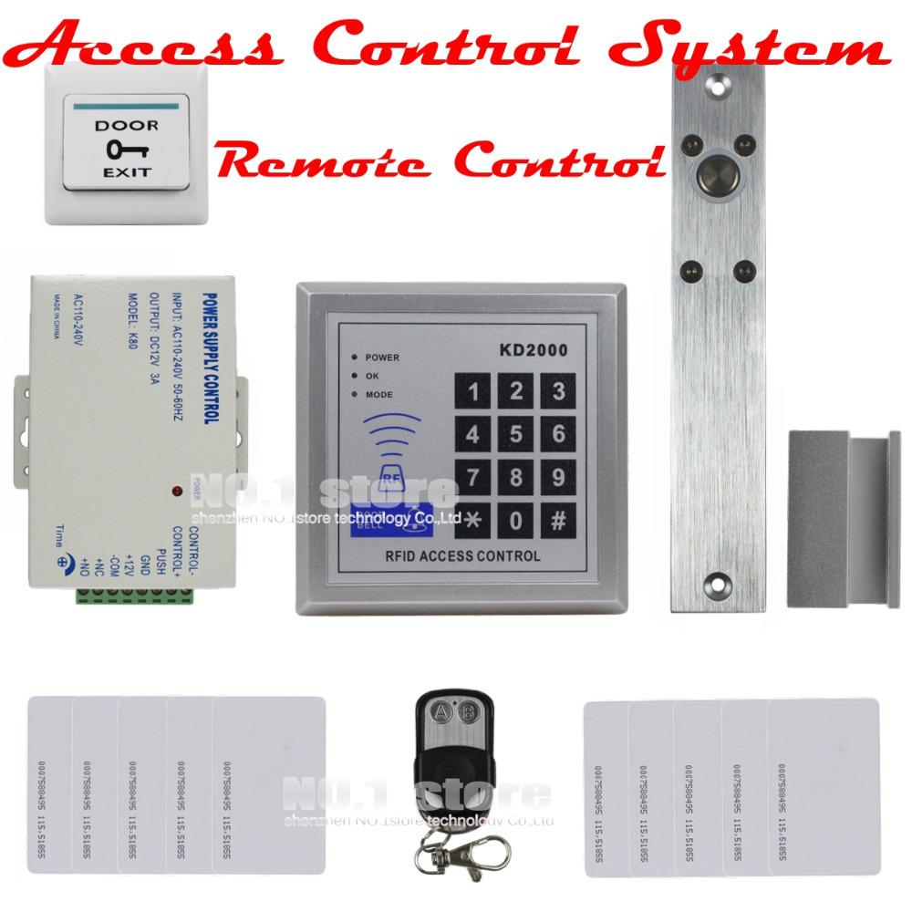 DIY Full Kit Set 125KHz RFID Keypad Access Control System Kit + Electric Drop Bolt Lock + Remote Control KD2000(China (Mainland))