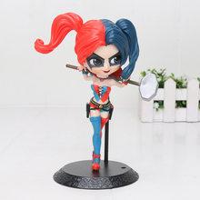 Q Posket Super-heróis Super mulher Viúva Negra Carol Danvers Esquadrão Suicida O Joker Harley Quinn Ação PVC Modelo Figura Toys(China)