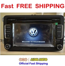 Free Shipping Car Radio Stereo USB AUX RCD510 With Code For VW Golf 5 6 Jetta MK5 MK6 Passat B6 CC B7 Polo(China (Mainland))