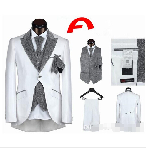 2015 hot sale mens suits wedding groom Tuxedos for wedding ...
