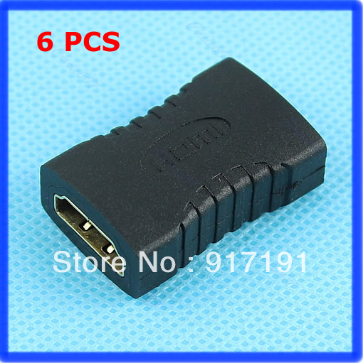 Free Shipping 6pcs/lot HDMI Female to Female Gender Changer Adapter Coupler(China (Mainland))