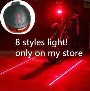 Bike Light Cheap Wholesale Price ! Bicycle Laser Tail Light Water Resistant 7 Modes Mountain Bike cycling Rear Led Light(China (Mainland))