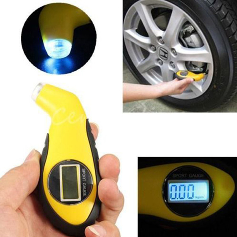 LCD Digital Tire Tyre Air Pressure Gauge Tester Tool For Auto Car Motorcycle