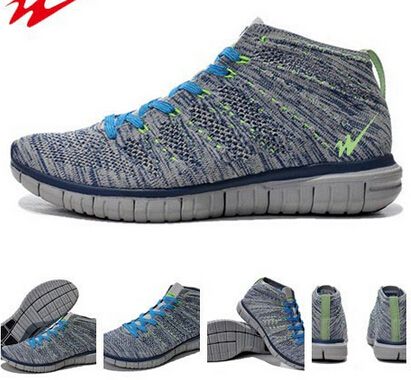 hot sell 2015 latest foumous sneaker breathable flyknit chukka sports shoes zapatillas running mens trainers free shipping(China (Mainland))