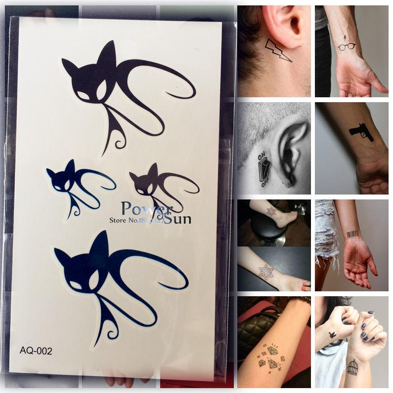 tatouage chat noir achetez des lots petit prix tatouage chat noir en provenance de. Black Bedroom Furniture Sets. Home Design Ideas