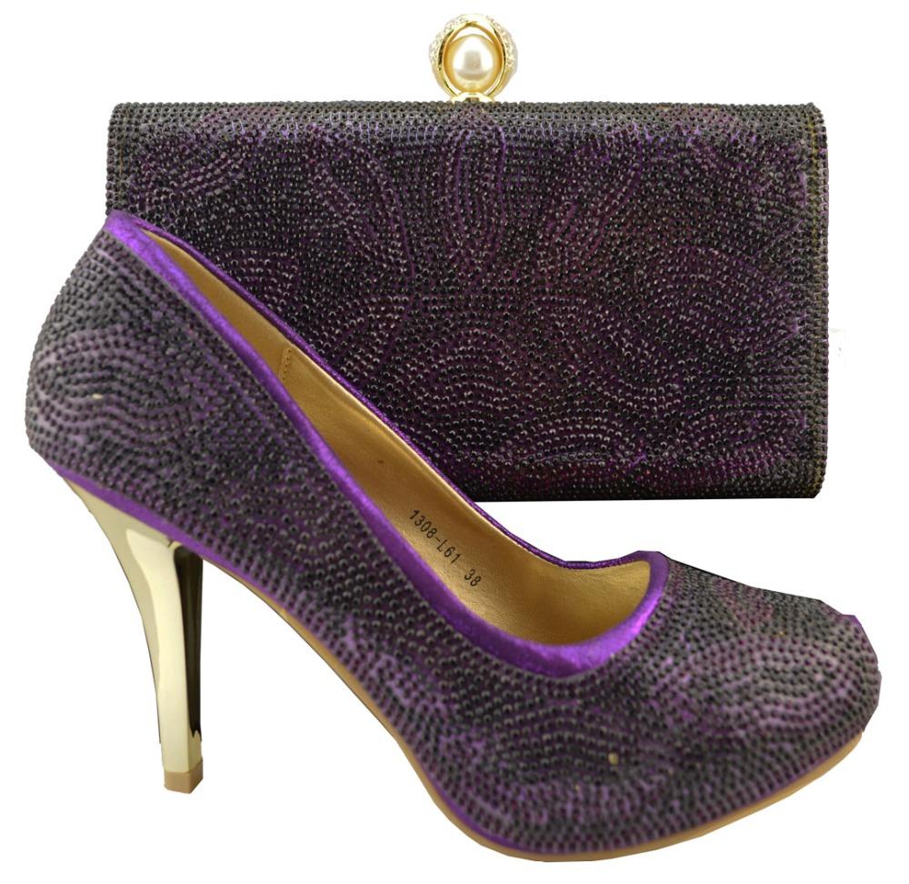 Purple Shoes High Heels