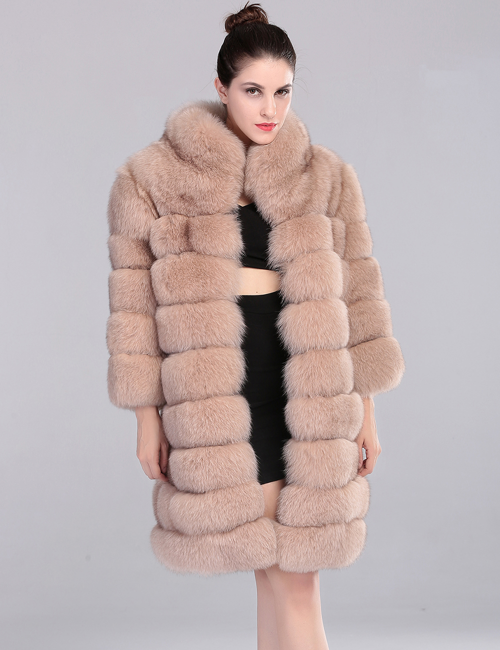 fox fur Picture - More Detailed Picture about Long Fox Fur Coat