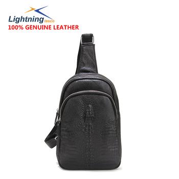 Свободного покроя мужчины 100% натуральная кожа мешок марка один наплечная сумка ...
