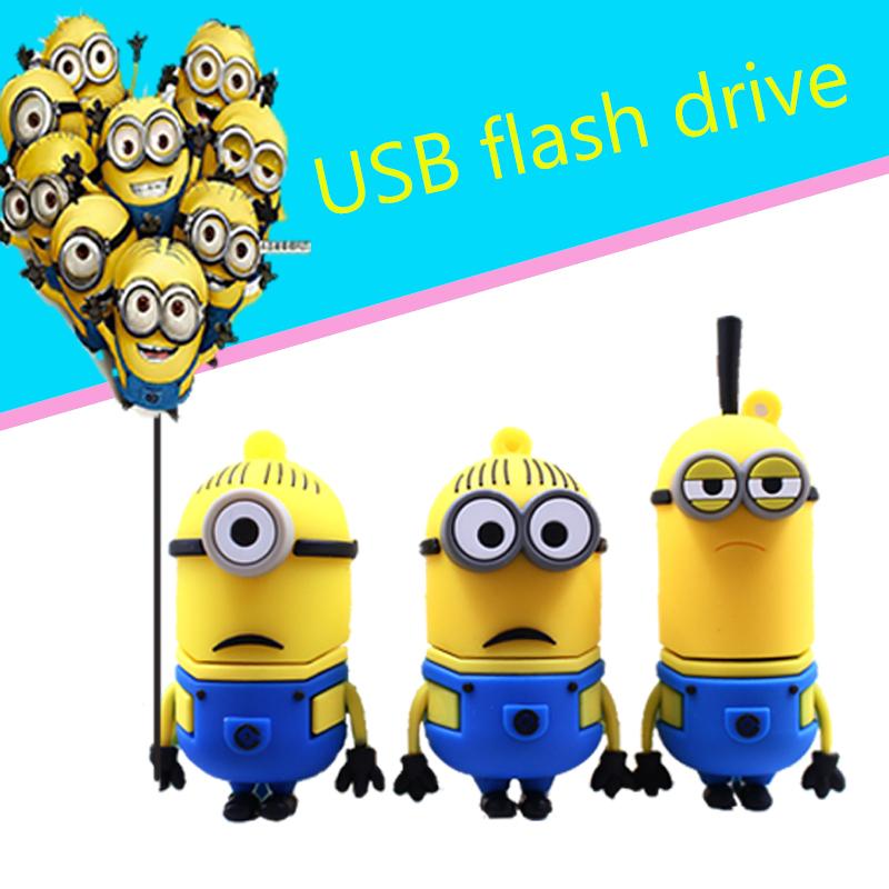New Pen drive Minions USB Flash Drive Real capacity 4GB 8GB 16GB Pendrive Memory stick U Disk(China (Mainland))