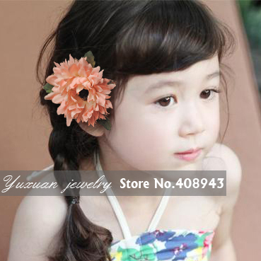 Free shipping African Daisy Flowers Hair clips Bridal Party Head flowers Baby Girl hairpin woman children Hair Accessories!Y-744(China (Mainland))