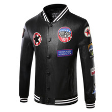 Men black leather jackets Motorcycle Business Casual Mens Leather Jackets coats L-3XL(China (Mainland))