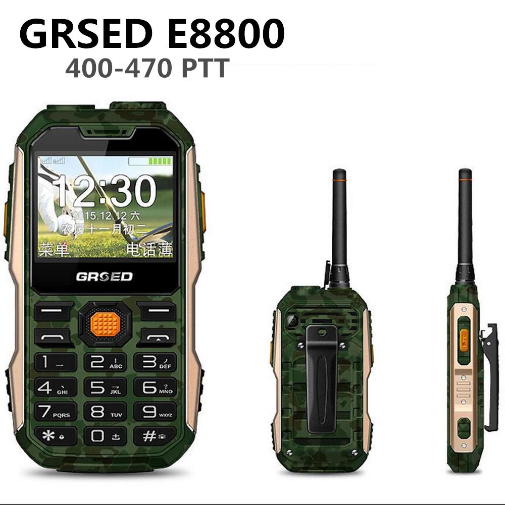 GRSED e8800 Russian Polish Italian Arabic Shockproof SOS 8800mAh Battery SOS Long Standby Power Bank torch FM cell mobile phone(China (Mainland))