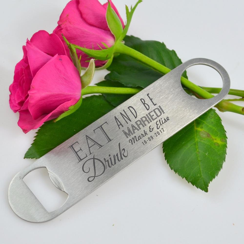 personalized wedding favor bottle opener bride groom wedding favour souvenir keepsake bridal. Black Bedroom Furniture Sets. Home Design Ideas