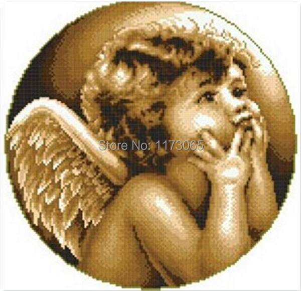Needlework,DIY DMC Cross stitch,Sets For Embroidery kits,Looking angel Patterns Counted Cross-Stitching,Wall Home Decro(China (Mainland))