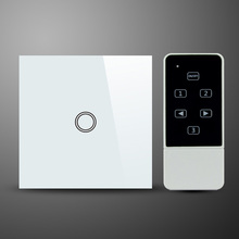 1 gang,RF 433MHz,EU standard,compatible with broadlink rm2 pro,glass panel wireless remote control switch