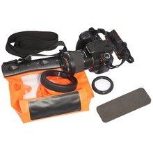 Caliente Tteoobl naranja bolsa impermeable del bolso del caso para el SLR DSLR de la cámara Canon 600D 40D 60D 7D 5d, Nikon D80 D90 D700 D5100 7000