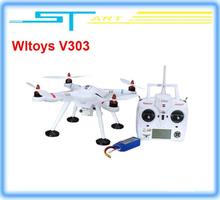 2014 version Wltoys V303 GPS Drone 4CH Brushless UFO Transmitter RC Helicopter quadcopter For Gopro VS walkera qr x3 classic toy