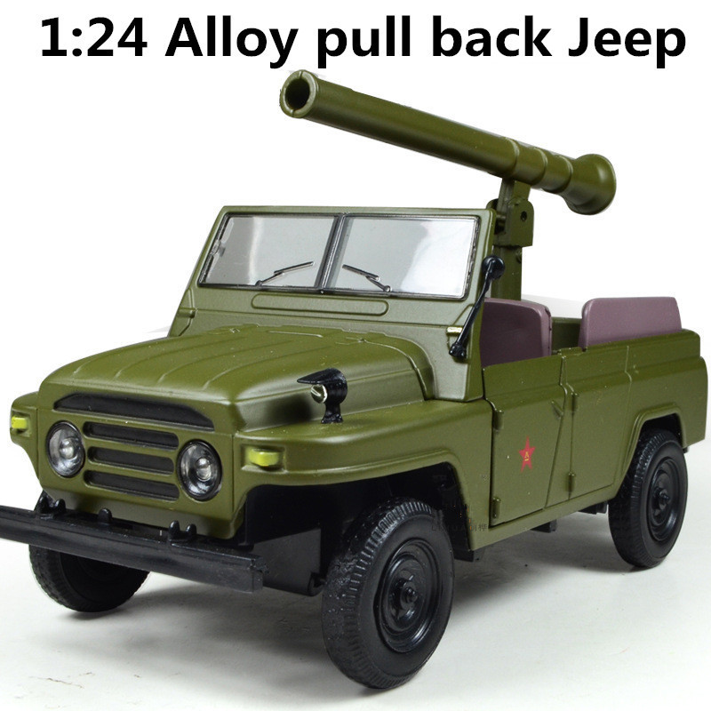 Military model, battle jeep 1:24 alloy pull back jeep, Diecasts car,Toy Vehicles best gift, free shipping(China (Mainland))