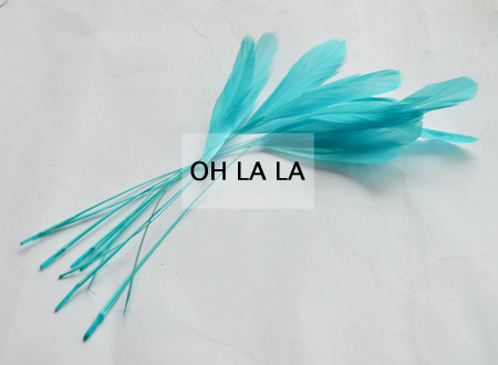 Turquoise blue 14-19cm cocktail feather DIY sinamay fascinator,hair accessory.(China (Mainland))