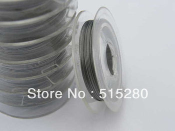 10 Rolls Silver Stainless Steel tiger tail,diameter 0.45mm beading wire, jewelry making supplies