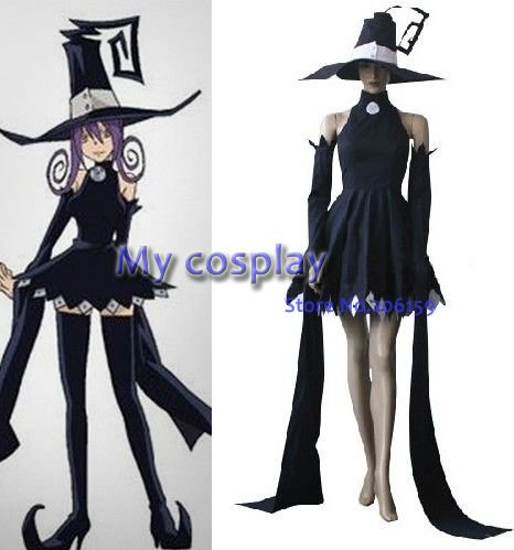 Anime Soul Eater Cosplay clothing- Soul Eater Cosplay Blair Women's Party Costume for Halloween Freeshipping(China (Mainland))