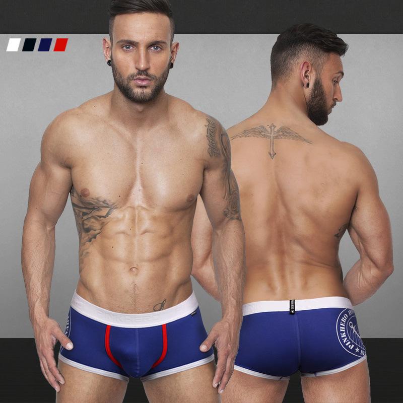 2015 fashion new Cotton men's flat foot underpants boxer shorts underwear cueca(China (Mainland))