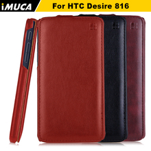for HTC Desire 816 Case flip leather cover for htc 816 phone cases imuca brand mobile phone bag for htc 800 816t 816w d816w capa(China (Mainland))