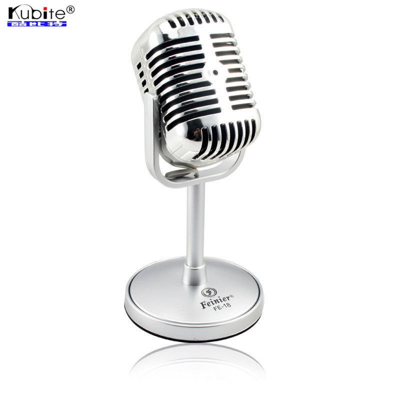 Wired Microphone Satin Surface Plating Vintage Microphone Professional Karaoke KTV Studio Mic Jazz Stage Vocal Mike(China (Mainland))