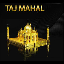 Taj Mahal 3D Puzzle Metal Educational Toys Jigsaw Puzzles For Kids Building Model Stainless Steel DIY Assembly Toy For Boy(China (Mainland))