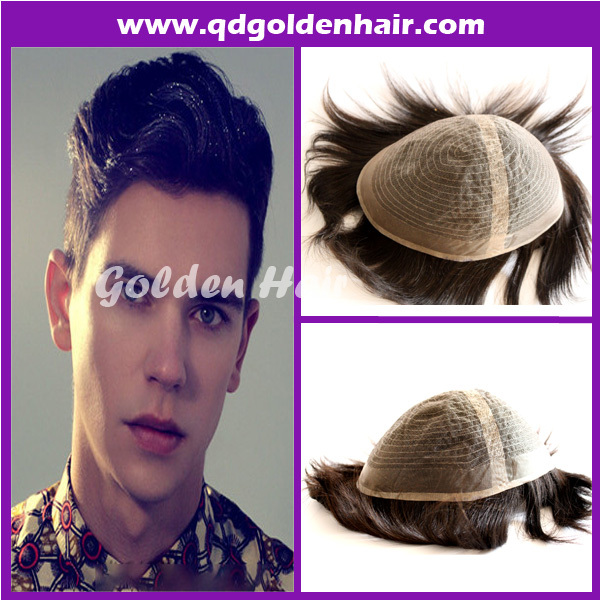 Hot selling discount price toupee wig hair replacement(China (Mainland))