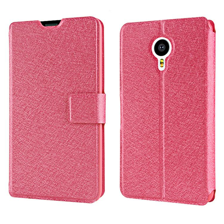 For Meizu MX5 Case Luxury Ultra-Thin Flip Leather Phone Cover Case For Meizu MX5 Case Original Silk Style Back Cover Accessories(China (Mainland))