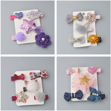 Buy 5PCS/ SET girls flowers hair clips cartoon hairpins toddlers kids Animal Bow SAFE Barrettes Hair Accessories Flower gift set L2 for $1.27 in AliExpress store