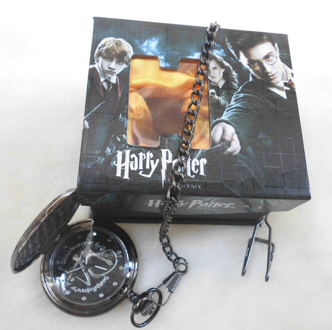 Wholesale Retail Harry Potter Hogwarts Magic Pocket Watch New In Box Classic Cosplay performance for gift