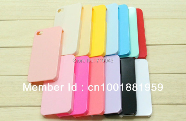 10 pieces , Colorful Plain Hard Back Case Cover for apple iPhone 5 - DIY Decoration , free shipping