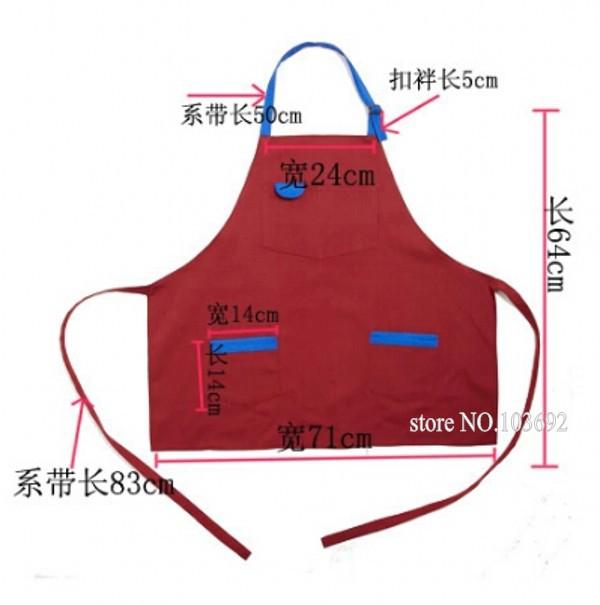 Fresh hit color women ladies pretty apron party cooking kitchen apron dress tablier cuisine waiter aprons(China (Mainland))