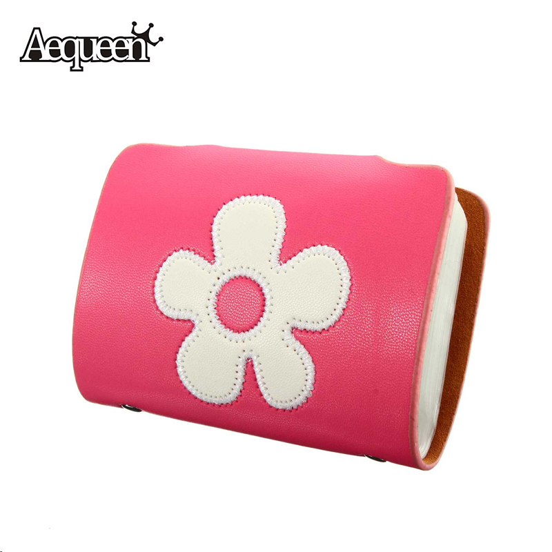 Fashion Fresh Credit Card Holder PU Leather Organizer Manager Women Embroidery Flower Brand PVC Small Cards Bag 6 Colors Girks(China (Mainland))