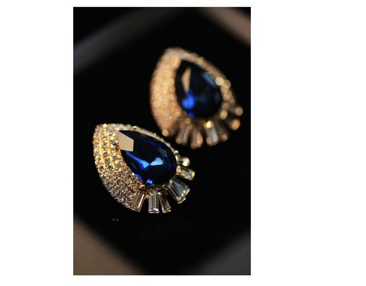 European style Accessories Earrings Enchase Rhinestone Fashion Star Design women's Stud Earrings(China (Mainland))