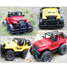 Children's Toys 1:24 Drift Speed Radio Remote Control RC Jeep Off-Road Vehicle+Headlight SUV RC Car With Red Yellow Color(China (Mainland))