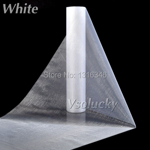 25M x 29CM White Sheer Organza Roll Fabric DIY Wedding Party Chair Sash Bows Table Runner Swag Decor Hot Sale(China (Mainland))