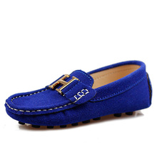 2015 children  leather casual shoes  fashion Moccasins boat shoes boys and girls sneakers leather casual baby single shoes(China (Mainland))