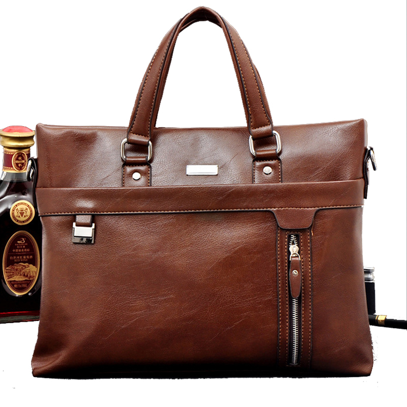 2015 New Arrival Genuine Leather Bag Handbag Men Messenger Bags 13 Inch Laptop Computer Business Bags,Fashion Men's Travel Bags(China (Mainland))