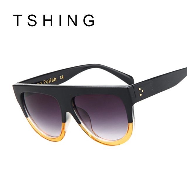 Flat Top Vintage Sunglasses For Women