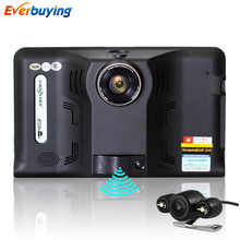New 7 inch Android Car DVR GPS Radar Dash Camera Video Recorder 16GB with Rear view Truck GPS Navigation FM AVIN WIFI sat nav(China (Mainland))
