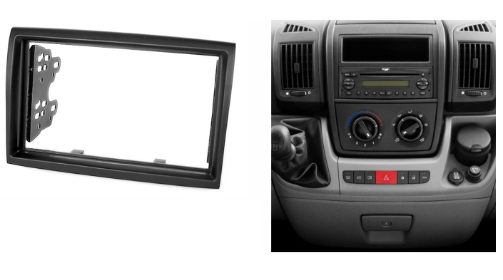 For CITROEN Jumper 2006+ PEUGEOT Boxer 2006+ FIAT Ducato 2006+ Radio CD DVD Audio Dash Mount Trim Kit Fascia Frame(China (Mainland))