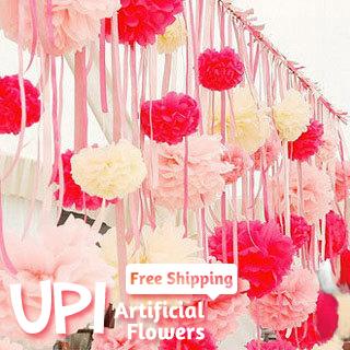 20cm(8inch) 2Tissue Paper Pom Poms Wedding Home Decor Decorative Flowers Decoration - Union Pacific International Trading Ltd. store